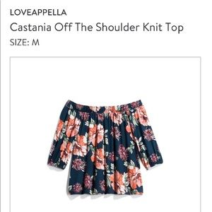 Loveapella off the shoulder knit top